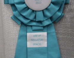 """Angular No. 1 by Audrey Esarey - 1st Place """"Use of Negative Space"""" Ribbon"""