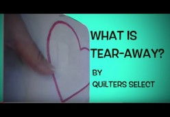 What is Quilters Select TearAway Stabilizer
