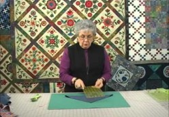 Sharon Pederson - Lesson 5 - How to Cut a Triangle When Your Ruler Isn't Large Enough