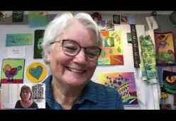 Laura Wasilowski Shows Her Studio and Small Quilt Projects